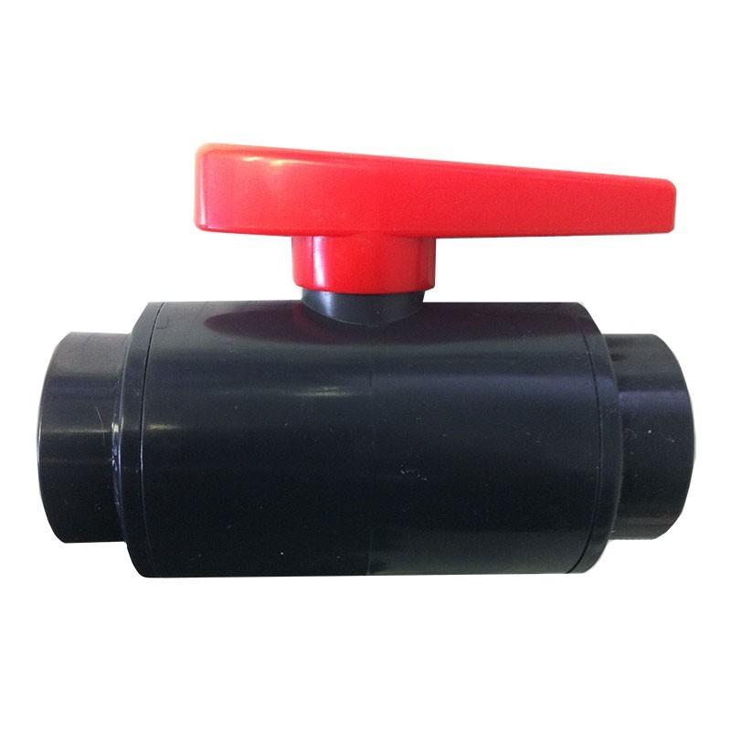 "1-1/2"" DELUXE PVC Ball Valve - Gray (NPT)"