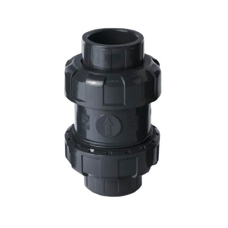 "2"" PVC True Union Ball Check Valve - NPT"