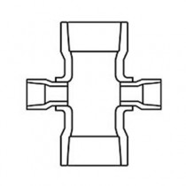 4 inch x 1-1/2 inch Sch 40 PVC Reducing Cross - Slip 420-419