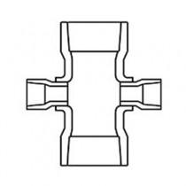 3 inch x 1-1/2 inch Sch 40 PVC Reducing Cross - Slip 420-337