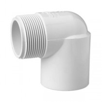 "1-1/2"" Schedule 40 PVC 90 Degree Street Elbow - Slip x MPT 410-015"