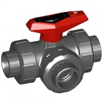 "1/2"" GF 543 3-Way Ball Valve L-Port EPDM 161543182"