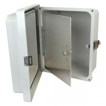 "Aluminum Hinged Front Panel for 10"" x 8"" Enclosures"