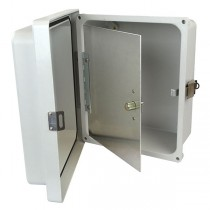 "Aluminum Hinged Front Panel for 12"" x 10"" Enclosures"