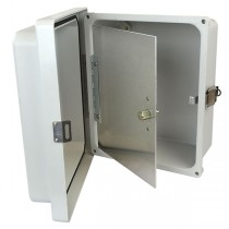 "Aluminum Hinged Front Panel for 14"" x 12"" Enclosures"