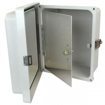 "Aluminum Hinged Front Panel for 6"" x 6"" Enclosures"