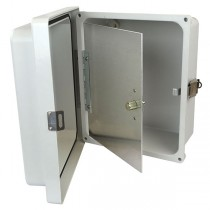 "Aluminum Hinged Front Panel for 8"" x 6"" Enclosures"