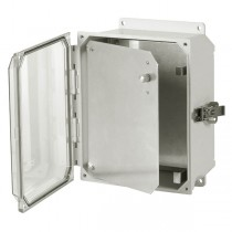 "Aluminum Hinged Front Panel for 20"" x 16"" x 10"" Enclosures"