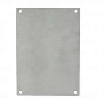 """Galvanized Back Panel for 12"""" x 10"""" Enclosures"""