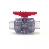 "1/2"" Clear PVC True Union Ball Valve (S x S)"