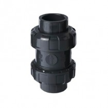 "1/2"" PVC True Union Ball Check Valve - NPT"