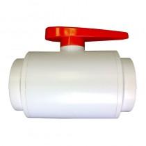 "3/4"" DELUXE PVC Ball Valve - White (NPT)"