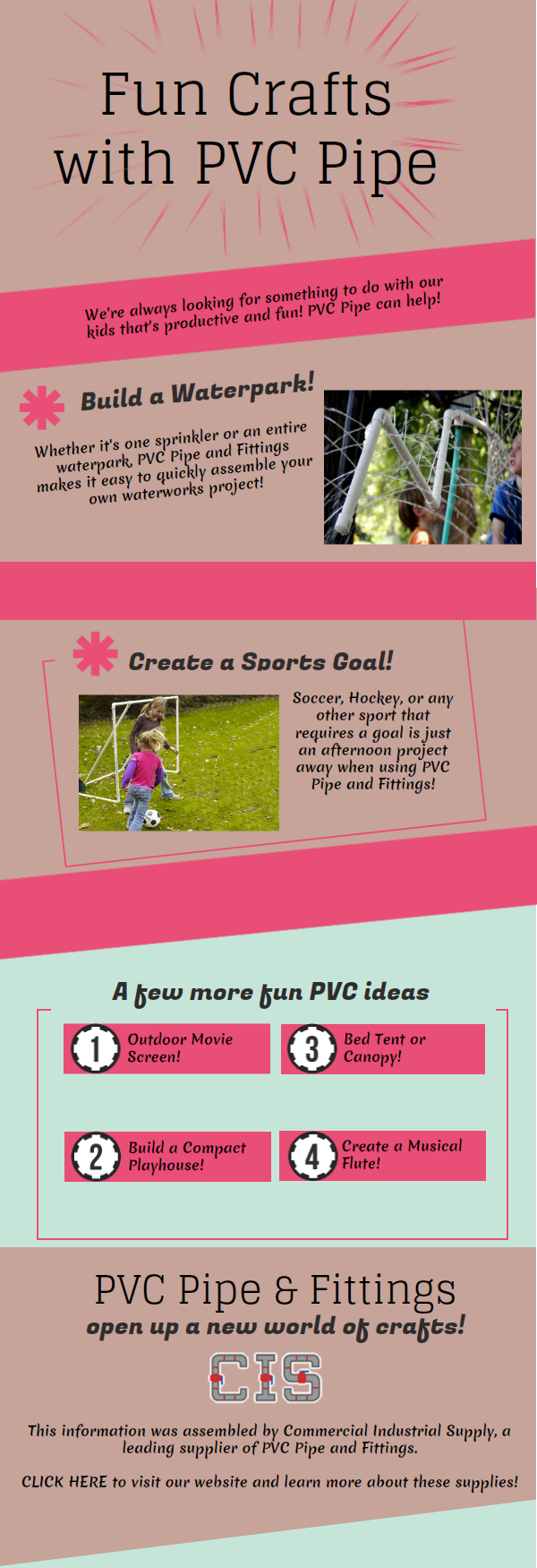 pvc crafts Fun Crafts For The Kids With PVC Pipe
