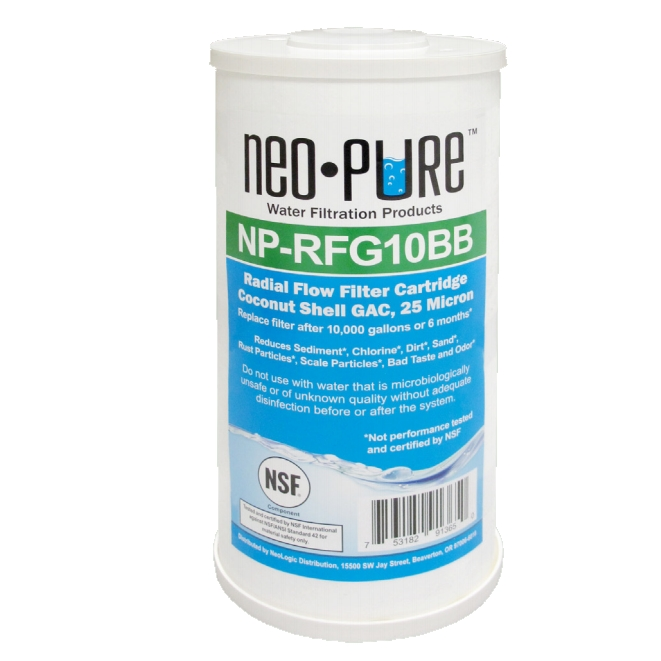 NeoLogic Neo-Pure NP-RFG10BB Radial Flow Filter Cartridge