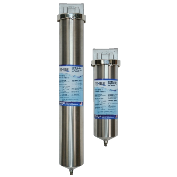 NeoLogic Neo-Pure SFR Series Single Filter Housings with Ring Nut Closure