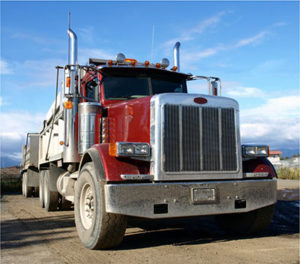 red truck diesel fuel towing highway transportation