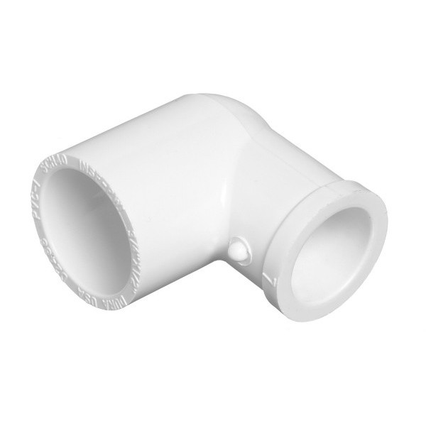 "1"" x 1/2"" Schedule 40 PVC Reducing 90 Degree Elbow - Slip x Slip 406-130"