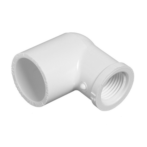 "1"" x 3/4"" Schedule 40 PVC Reducing 90 Degree Elbow - Slip x FPT 407-131"