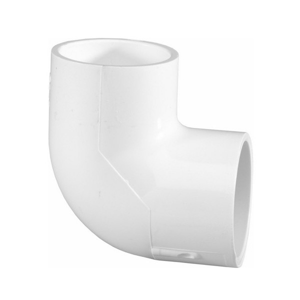 "1/2"" Schedule 40 PVC 90 Degree Elbow - Slip x Slip 406-005"