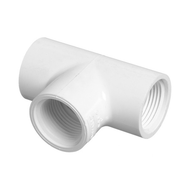 "1-1/2"" Schedule 40 PVC Tee - FPT x FPT x FPT 405-015"