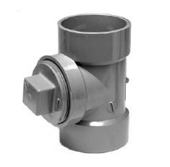 3" ChemDrain CPVC AW Cleanout Tee W/Plug 10523