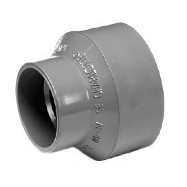 "2""X 4"" ChemDrain CPVC AW Pipe Increaser Reducer 10454"