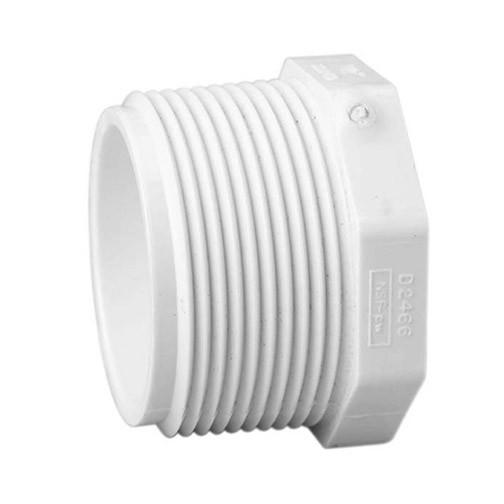 "4"" Schedule 40 PVC Plug - MPT 450-040"