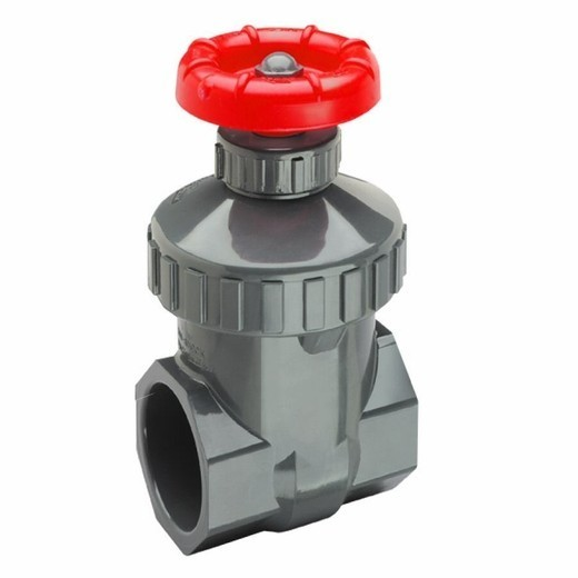 1 1/4 inch PVC Threaded Gate Valve Spears 2021-012