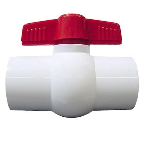 "3/4"" White PVC Compact Ball F01075SRH"