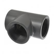 """1-1/4"""" Schedule 80 PVC Tee FPT 805-012"""