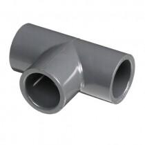 """4"""" Schedule 80 PVC Tee Slip 801-040"""