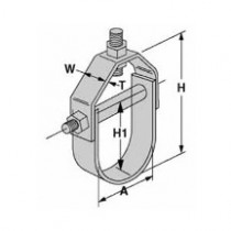 """CVHPU-600 4-1/2"""" Molded Clevis Hanger"""