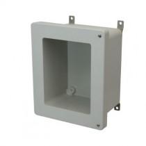 10x8x4 NEMA 4X Fiberglass Enclosure Hinged Screw Cover Window