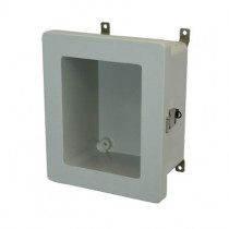 10x8x4 NEMA 4X Fiberglass Enclosure Quick-Release Latch Hinged Cover Window