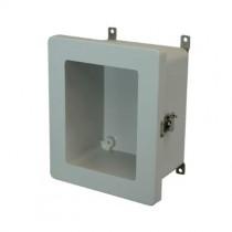 10x8x4 NEMA 4X Fiberglass Enclosure Twist Latch Hinged Cover Window
