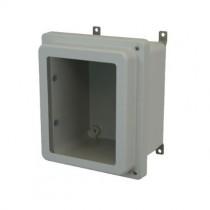 10x8x6 NEMA 4X Fiberglass Enclosure Raised Hinged Screw Cover Window