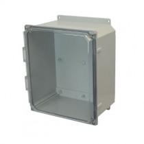 12x10x6 NEMA 4X Polycarbonate Encl Clear Lift-Off Screw Cover Flange Mount