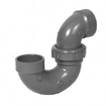 "1-1/2"" ChemDrain CPVC AWP-Trap w/SO.Weld Joint and C/O 10728"