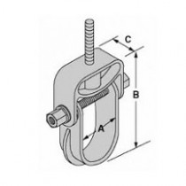 """100-1503 2-1/2"""" - 3-1/4"""" Hand Lay-Up Clevis Hanger"""