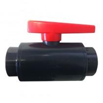 """2-1/2"""" DELUXE PVC Ball Valve - Gray (S x S)"""