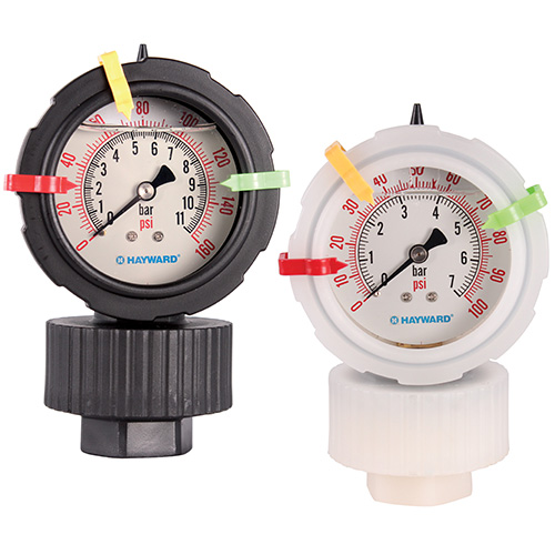 Hayward GDS Series Double Sided Pressure Gauge and Isolator