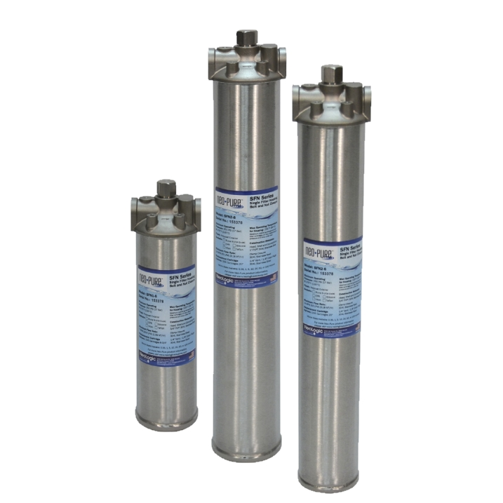 NeoLogic Neo-Pure SFN Series Single Filter Housings Bolt and Nut Closure
