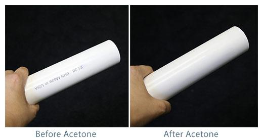 acetone-pvc