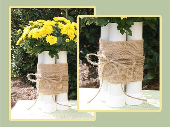 Diy Pvc Flower Vase Craft