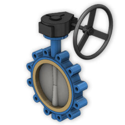 gear-operated valves