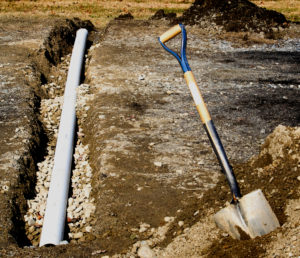 Corrugated Pipe French Drain